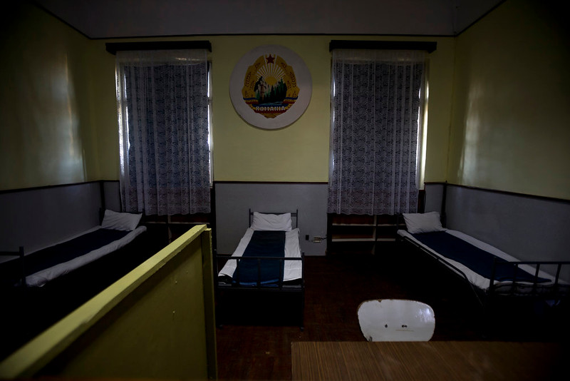 . A picture taken on Dec. 15, 2014 shows the room at the military garrison, turned museum, in Targoviste, Romania, where Romanian communist dictator Nicolae Ceausescu and his wife Elena spent their final days before being executed on Dec. 25, 1989.  (AP Photo/Vadim Ghirda)