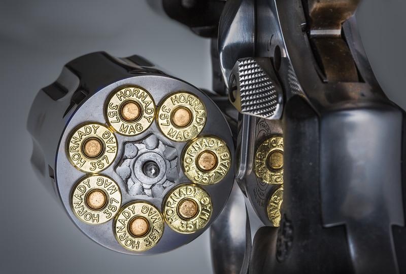 Smith & Wesson Model 686. A seven shot .357 revolver.