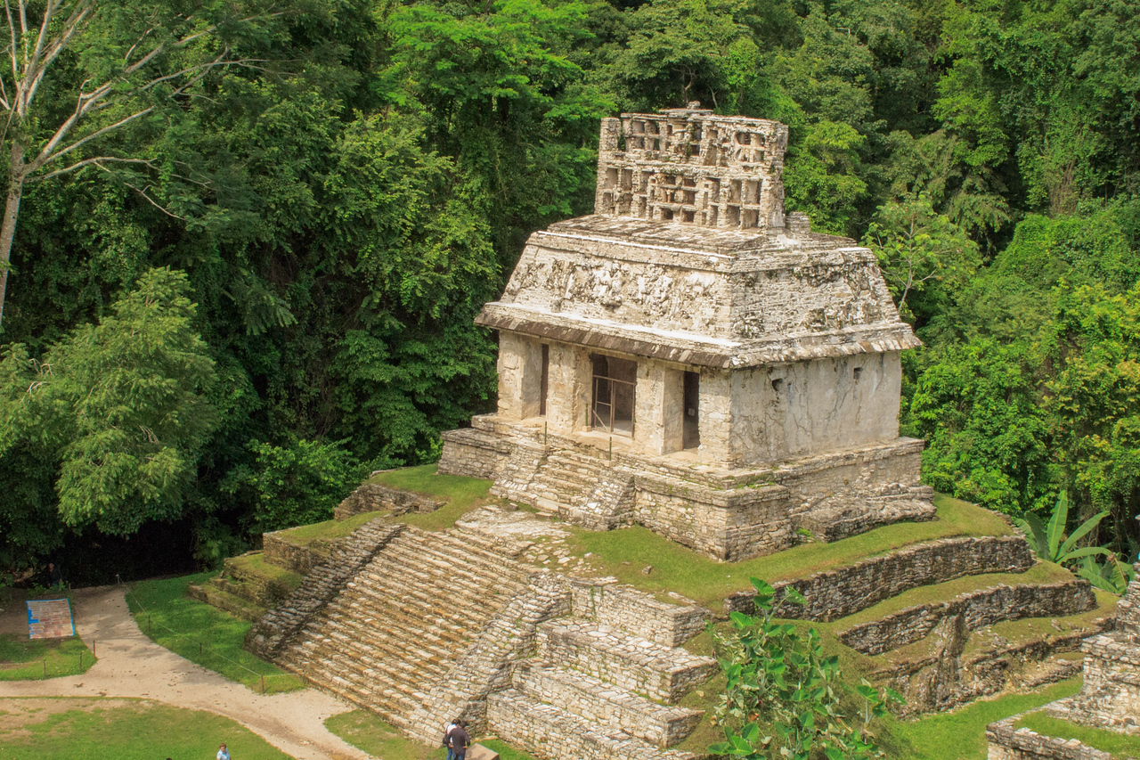 Temple of the Count at Palenque Mayan Ruin Site