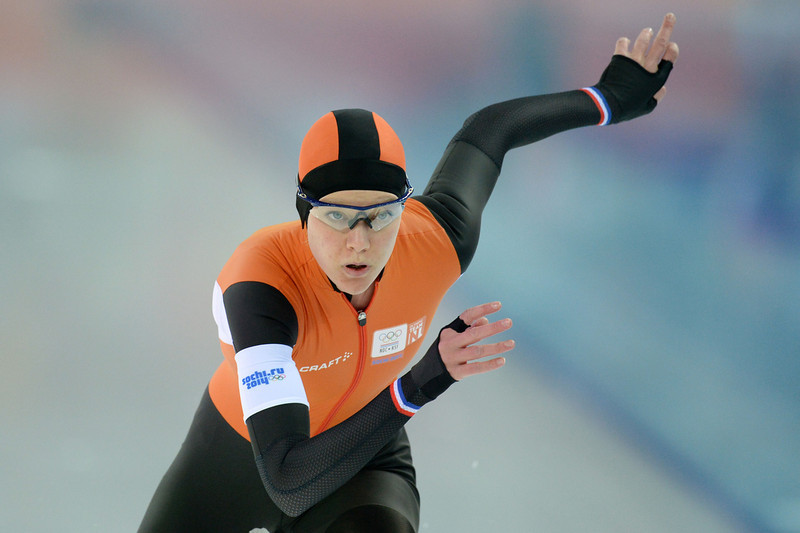. Netherlands\' Yvonne Nauta competes in the Women\'s Speed Skating 5000 m at the Adler Arena during the Sochi Winter Olympics on February 19, 2014.  (ANDREJ ISAKOVIC/AFP/Getty Images)