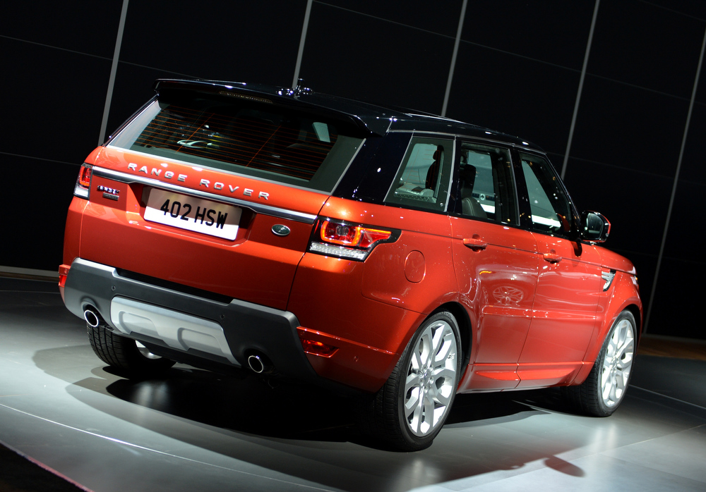 Description of . The Range Rover Sport from Land Rover is unveiled during the first press preview day at the New York International Automobile Show March 27, 2013 in New York.  STAN HONDA/AFP/Getty Images