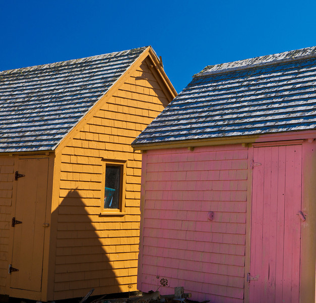Colorful cabins, Nova Scotia