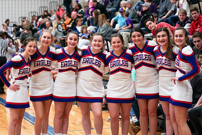 LB JV BBK Cheerleaders @ Home Game (2019-02-15)