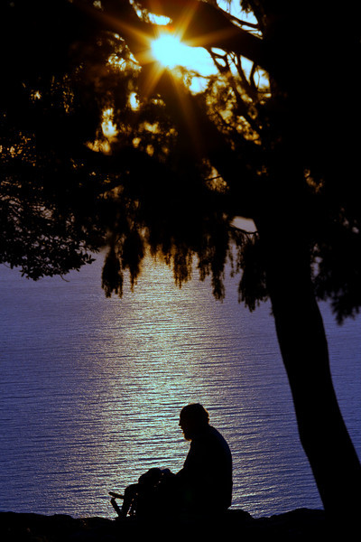 Coucher de soleil à Piana