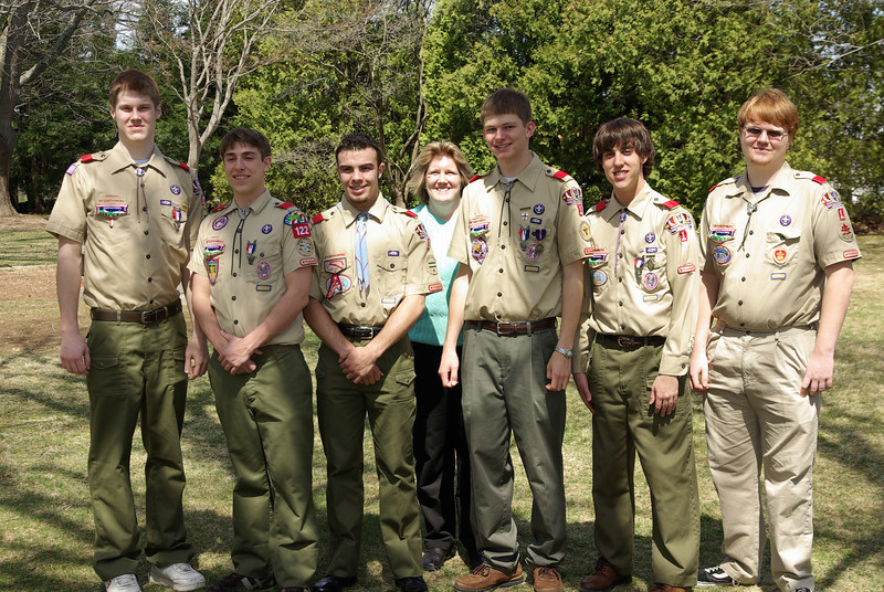The Super Six - cub scout den all made it to Eagle Scout