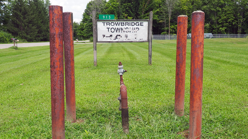 Trowbridge Township Hall sign