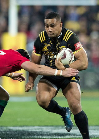 Ngani Laumape during game 8 of the British and Irish Lions 2017 Tour of New Zealand,The match between  Hurricanes and British and Irish Lions, Westpac Stadium, Wellington, Tuesday 27th June 2017 (Photo by Kevin Booth Steve Haag Sports)  Images for social media must have consent from Steve Haag