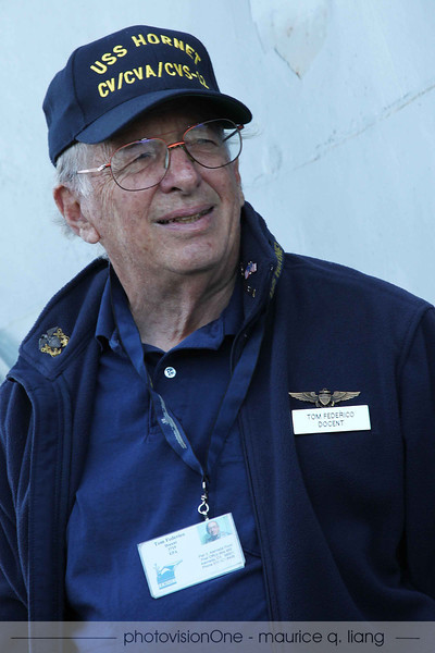 Bill turns us over to Tom Federico for the above-deck tour.  Bill was a pilot in WWII.