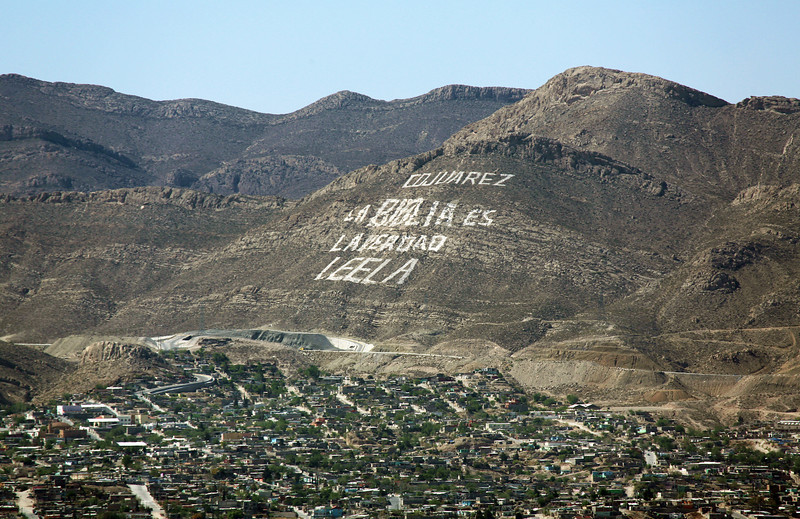 An exhortation to read the Bible above Juarez