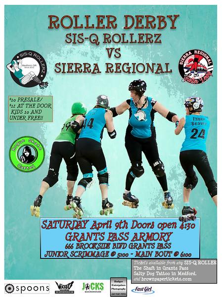 SISQ-Rollerz VS Sierra Regional Roller Derby