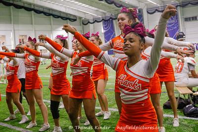 Varsity Cheer at TC Williams Football Game 10/18/19