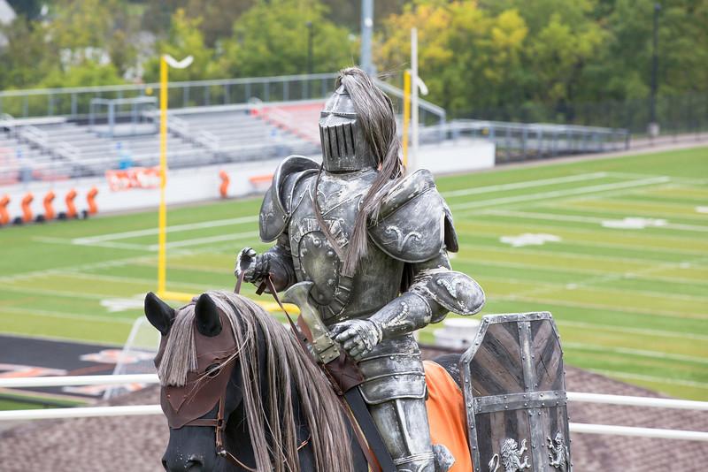 Towanda Knight on Horse statue