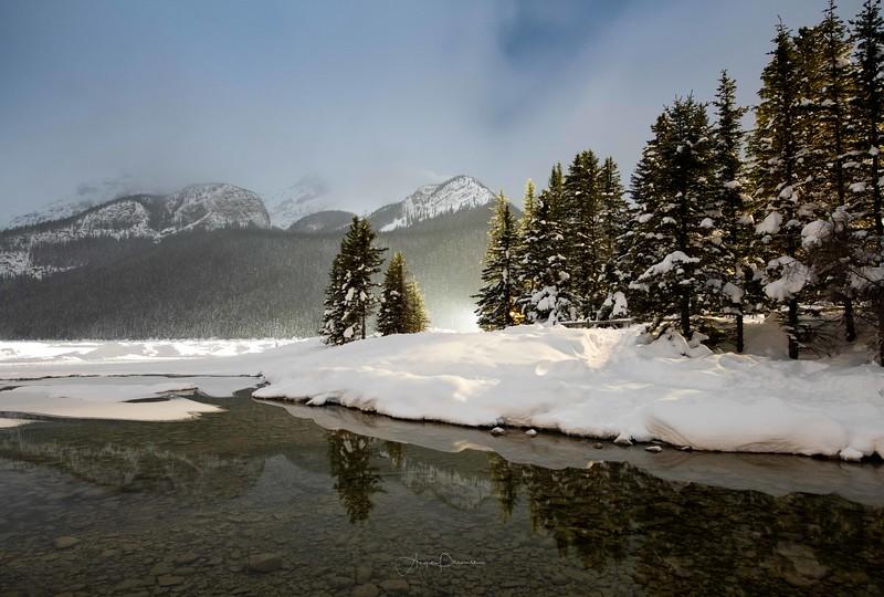 Lake Louise Winter Night