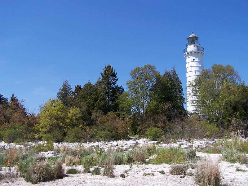 Another shoreline view of Cana Island light, Baileys Harbor, Door County, WI