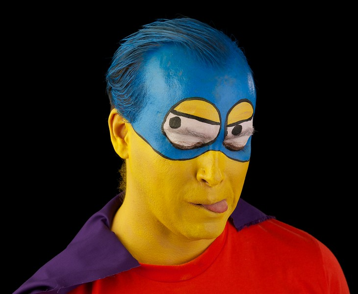 """Shane as """"Bart Man"""" from The Simpsons"""