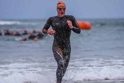 Superfeet Sandman Triathlon - Swim Exit Orange Hats