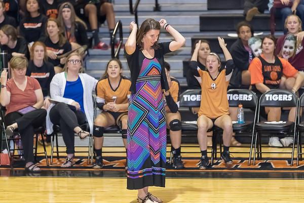 Caldwell Varsity Volleyball v Smithville Game Shots 2016