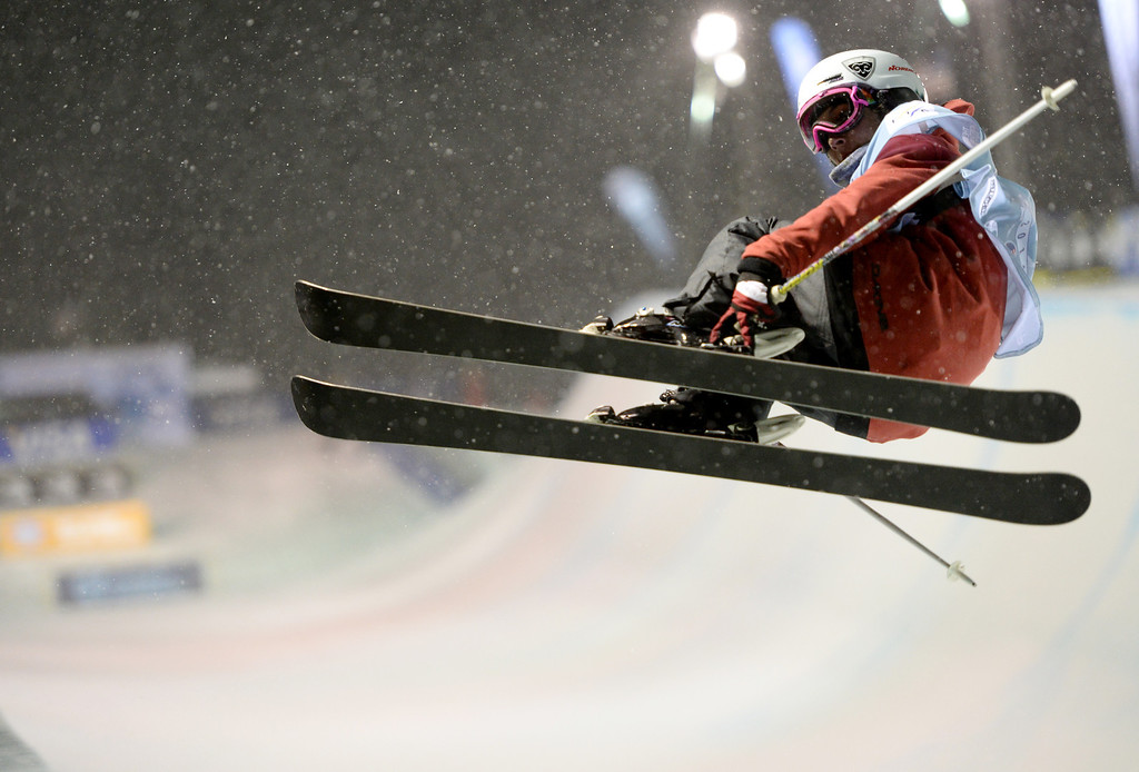. COPPER MOUNTAIN, CO. DECEMBER 20: Anais Caradeux is in action during the ski halfpipe final U.S. Snowboarding Grand Prix. Copper Mountain, Colorado. December 20. 2013. (Photo by Hyoung Chang/The Denver Post)