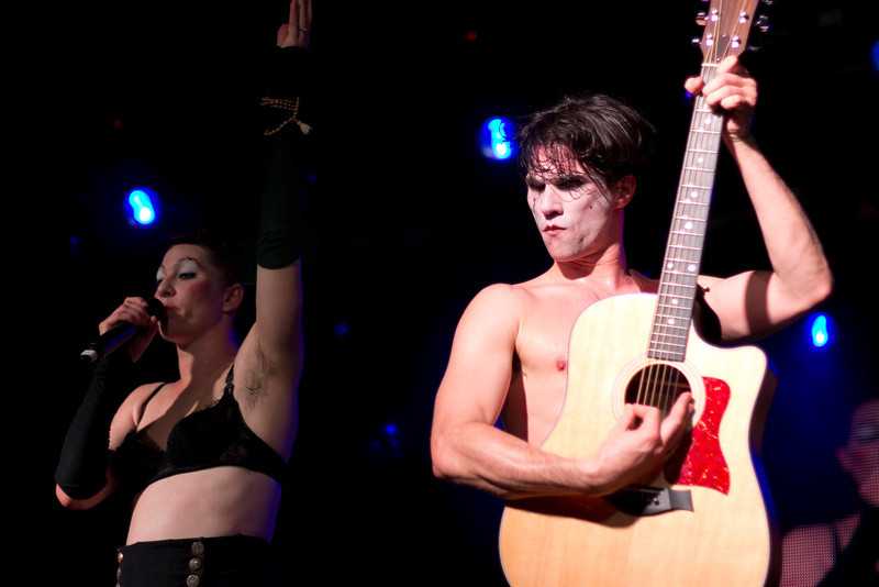 The Dresden Dolls. Seriously, Brian has the most expressive and photogenic face. Amanda has a very expressive face as well, but my timing with shots didn't work out nearly as well with pictures of her.