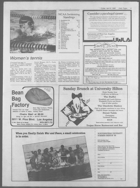 Daily Trojan, Vol. 106, No. 56, April 08, 1988