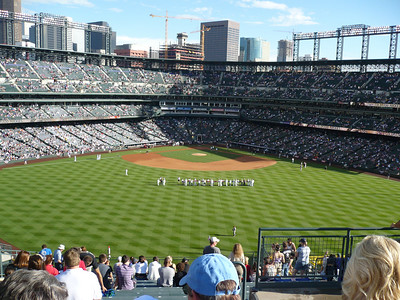 Fireworks at Coors Field