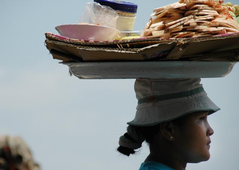 Vendor Balancing Goods - Phnom Penh, Cambodia