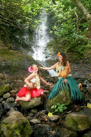 Likeke Falls - Ryelee and Celeste