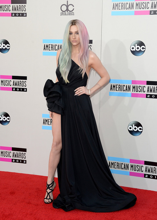 . Singer Ke$ha attends the 2013 American Music Awards at Nokia Theatre L.A. Live on November 24, 2013 in Los Angeles, California.  (Photo by Jason Merritt/Getty Images)