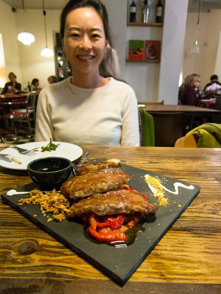 Pork (chop) - also delicious!