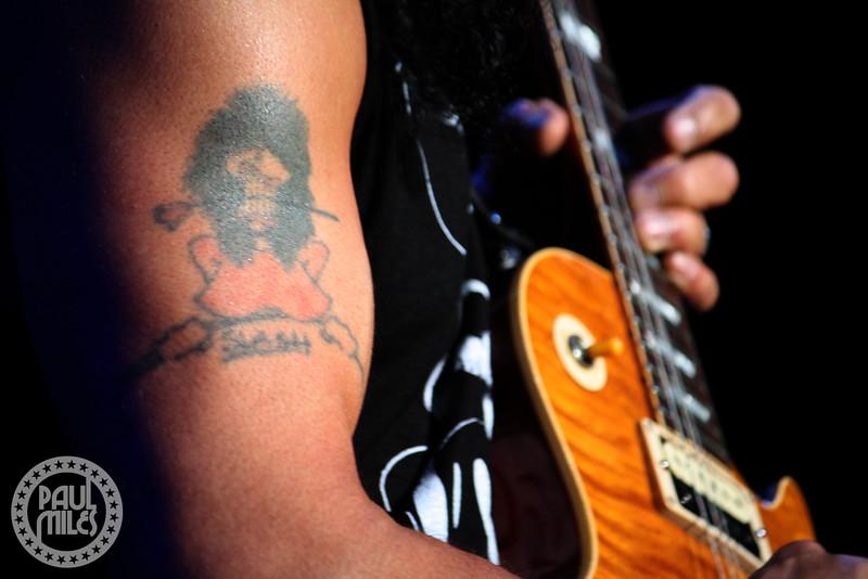 SLASH: Not your usual photo of guitar hero Slash, taken at Hammerstein in New York City.