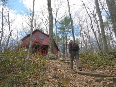 Cabin Shelter on Appalachian Trail-042814