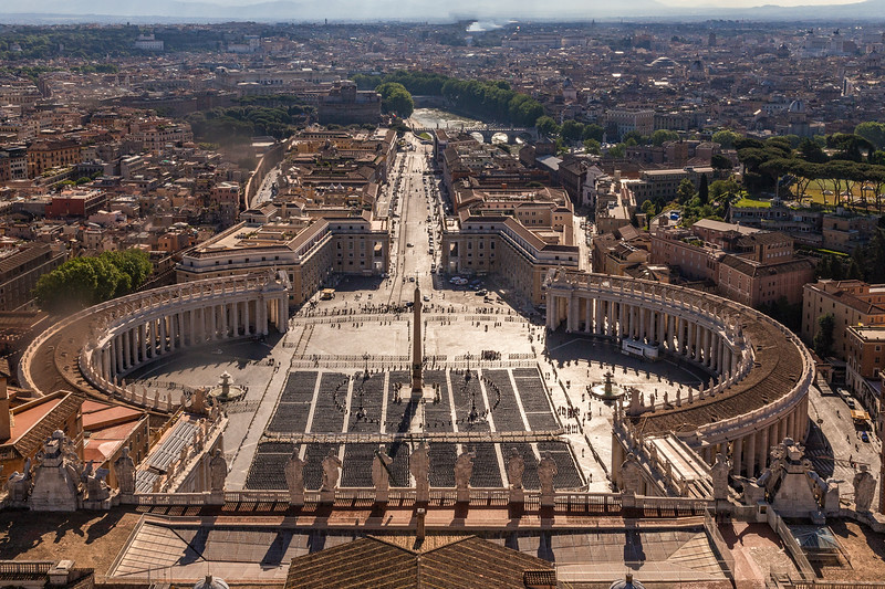 view from vatican roof