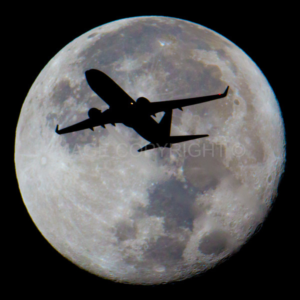 Jet Crossing the Moon