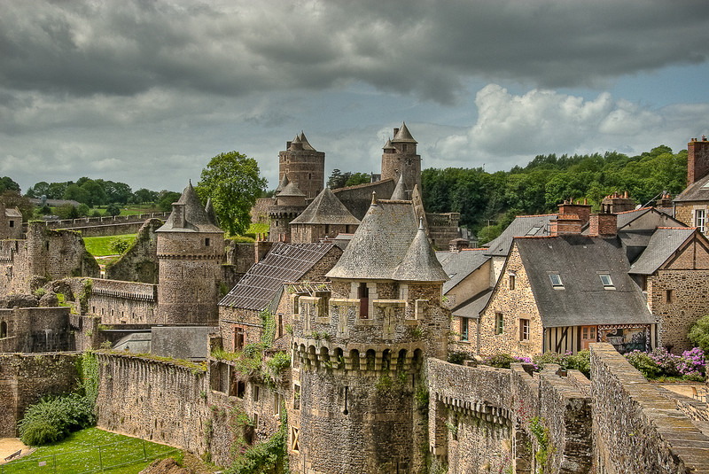 Fortifications of Château de Fougères, France