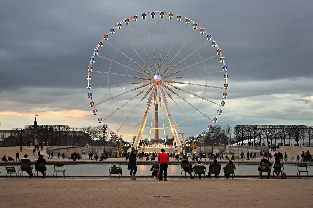 Jardin des Tuileries in Paris, France