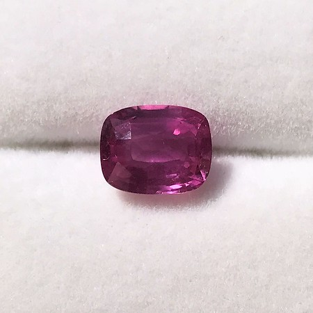 4.00ct Pink Cushion Shape Sapphire, with GIA