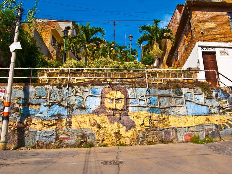 jesus mural, san gil