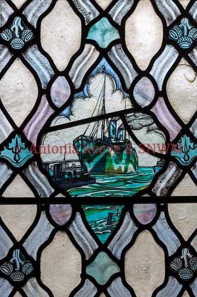 Winter Window - camouflaged ship
