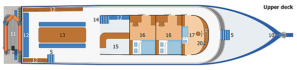 MV Dolphin Queen Upper Deck Plan