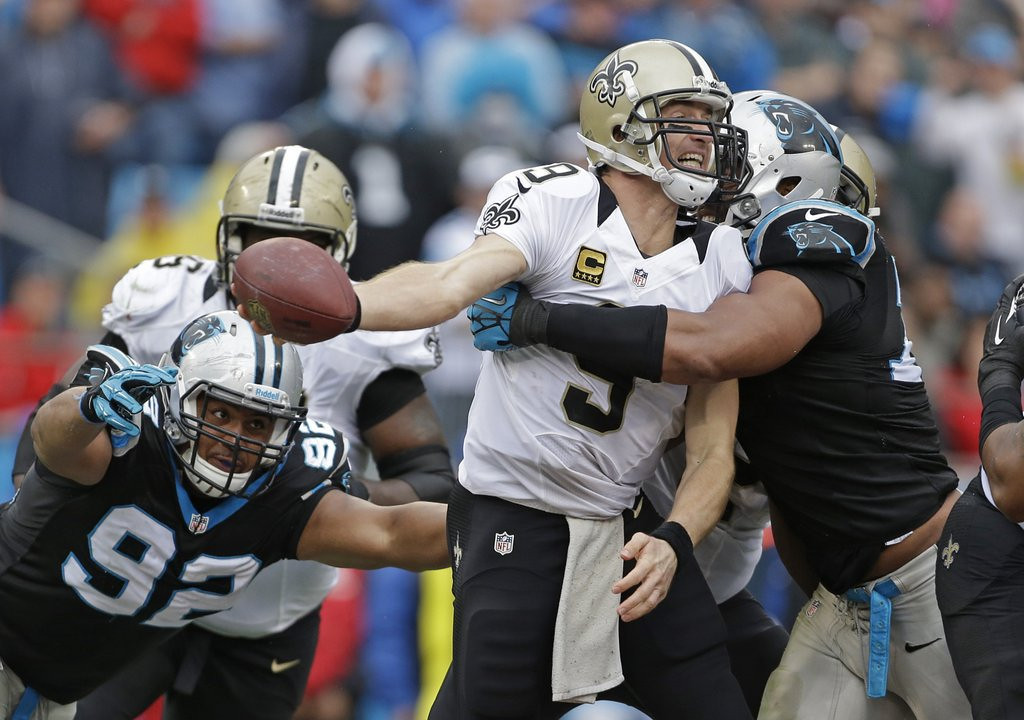 . <p><b> Buccaneers at Saints (-12½):</b>  <p>Drew Brees and Co. likely blew their chance for the NFC South title by folding the past two weeks at Carolina and St. Louis. It was a huge shock to Saints fans to learn their team sucks on the road both indoors and outdoors. <p>Pick: <b>Saints by 21</b> <p>   (AP Photo/Bob Leverone)