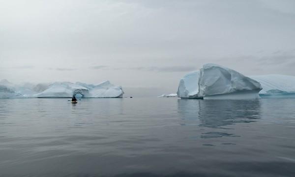 Kayaking at Cuverville Island, Antarctic Peninsula