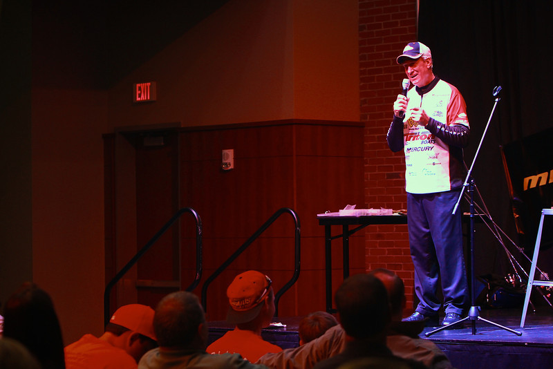 Longtime professional champion fisherman Guy Eaker speaks at Gardner-Webb University; an event hosted by the GWU Fishing Club; Fall 2012