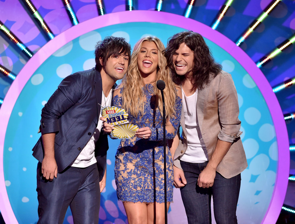 . Recording artists The Band Perry onstage during FOX\'s 2014 Teen Choice Awards at The Shrine Auditorium on August 10, 2014 in Los Angeles, California.  (Photo by Kevin Winter/Getty Images)