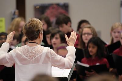 MS Honor Choir in Morning Meeting