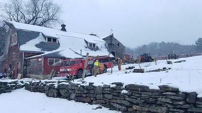 Tractor Fire (in barn) - Tyringham, MA - 11/28/2018