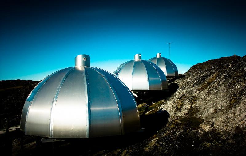 Modern igloos in Ilulissat, Greenland