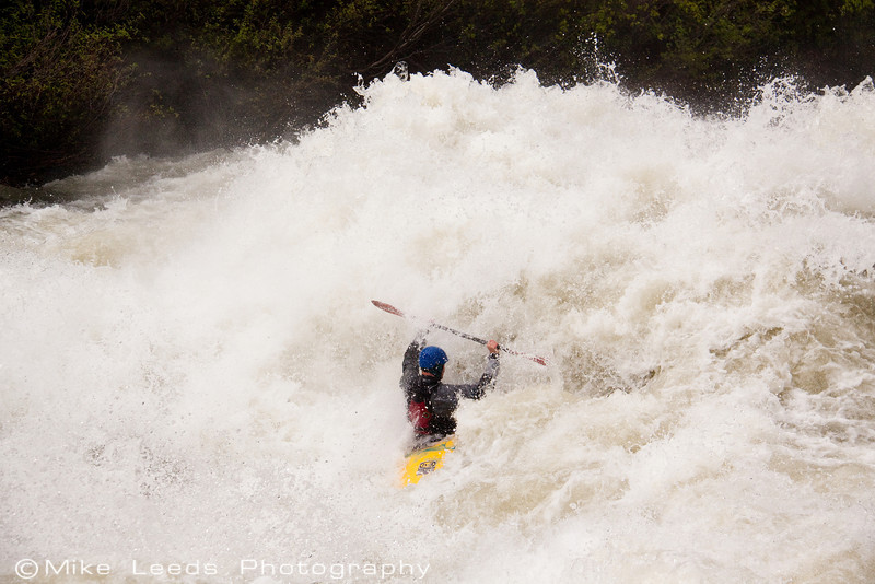 "Tristan McLaran in ""Nutcracker"" on the North Fork Payette River, Idaho.  7,000-8,000cfs."