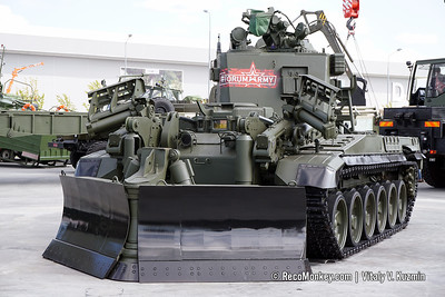 ARMY-2018 - Static displays part 4: Combat engineering, repair and support vehicles