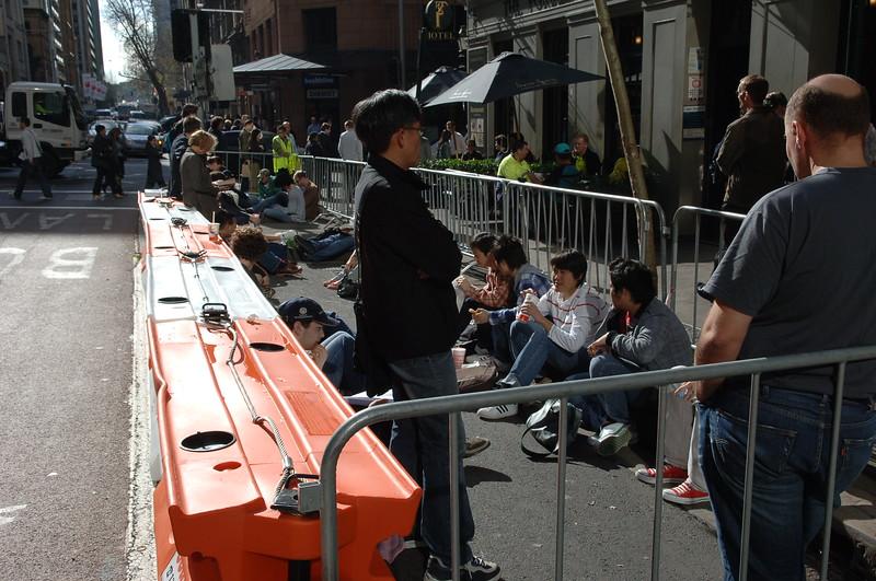 Baracades setup in York Street