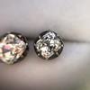 1.73ctw Georgian Peruzzi Cut Diamond Collet Stud Earrings 18